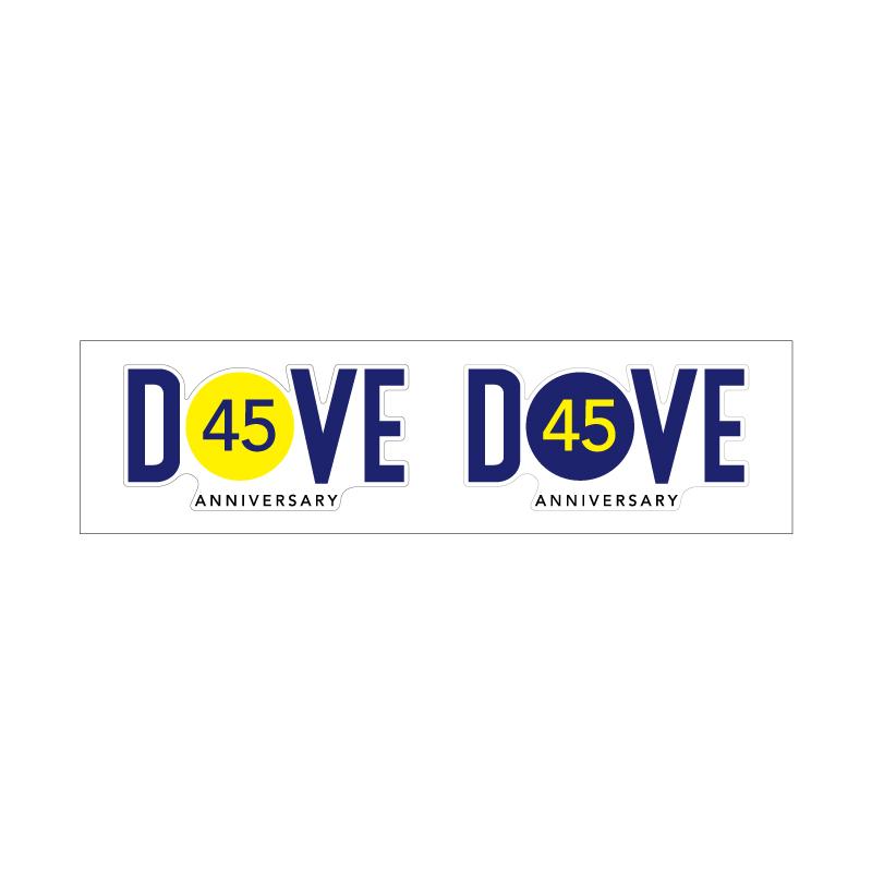 DOVE 45周年記念ステッカー