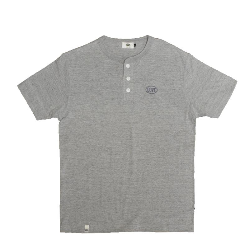 CLASSIC LOGO ヘンリーネックTシャツ『 GRAY』